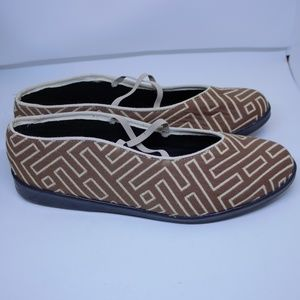 Apropos Anthropologie Womens Tapestry Flats 8.5